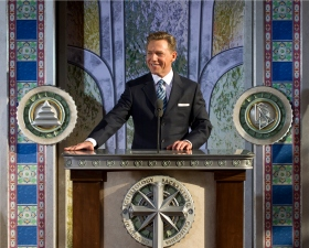 Mr. David Miscavige, Chairman of the Board Religious Technology Center and ecclesiastical leader of the Scientology religion, officiated at the Church of Scientology of Sacramento dedication ceremony.